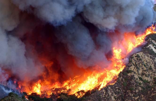 Incendi in California in un immagine di archivio