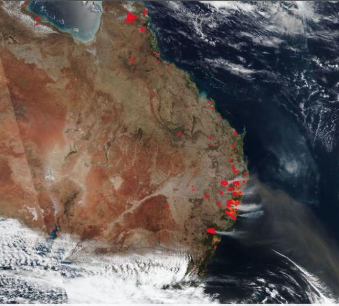 Incendi visti dai satelliti - fonte: firms.modaps.eosdis.nasa.gov