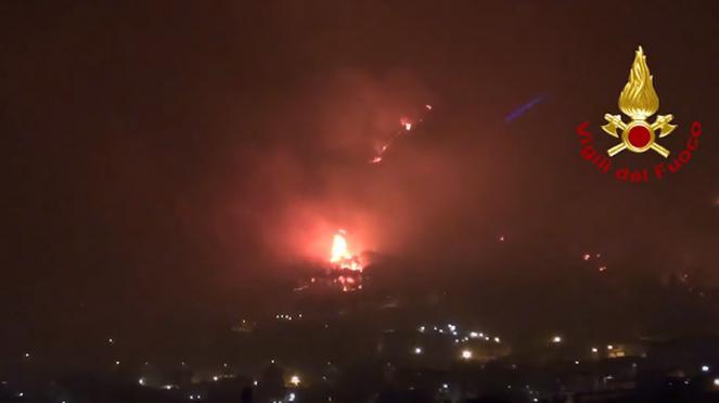 incendio Altofonte (immagine vigili del fuoco)