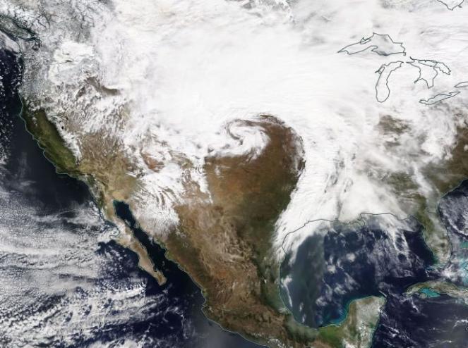 intenso ciclone sugli USA