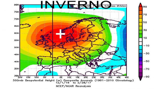 inverno2016-17: reanalisi a 500 hPa