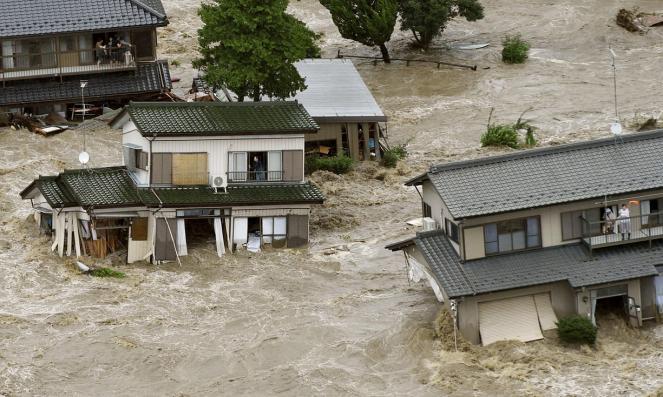 Joso (Giappone orientale) devastata dall'alluvione