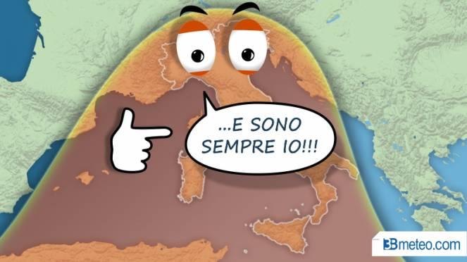 L'alta pressione africana sull'Italia