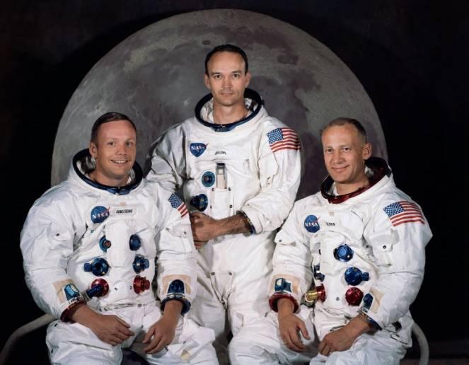 L'equipaggio dell'Apollo 11: Armstrong, Collins, Aldrin