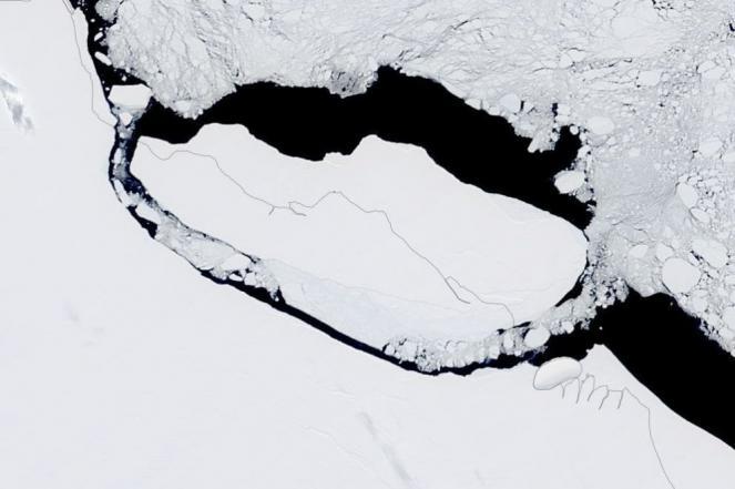 L'iceberg A68 ormai lontano dalla piattaforma Larsen C