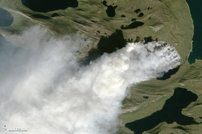 L'incendio visto dal satellite- NASA Earth Observatory