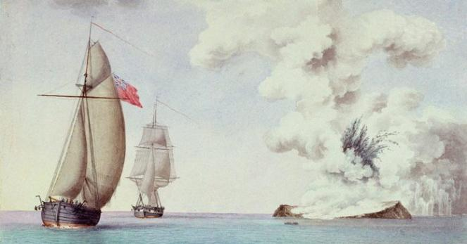L'isola Ferdinandea 1831