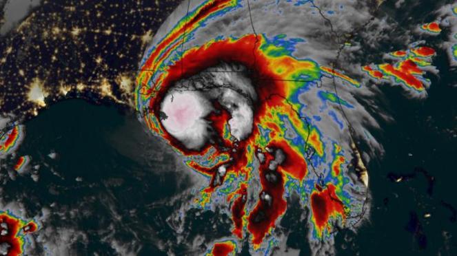 L uragano Sally a due passi dalle coste del Golfo