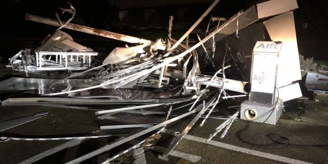 L'uragano Zeta si è abbattuto sulle coste della Louisiana. Fonte: Fox8live.com