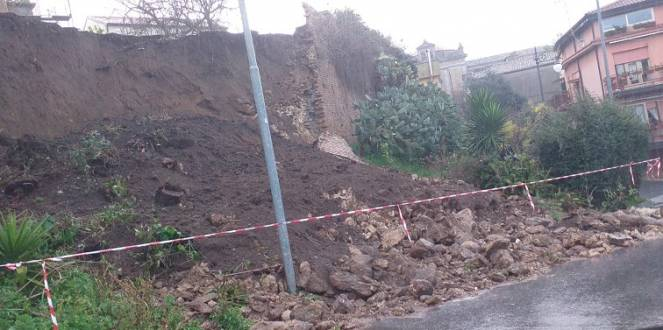 La frana nel vibonese. Fonte immagine Calabria7.it