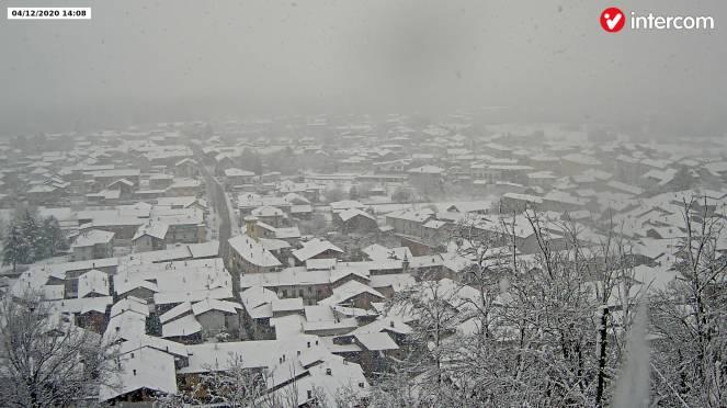 La neve a Novara ora