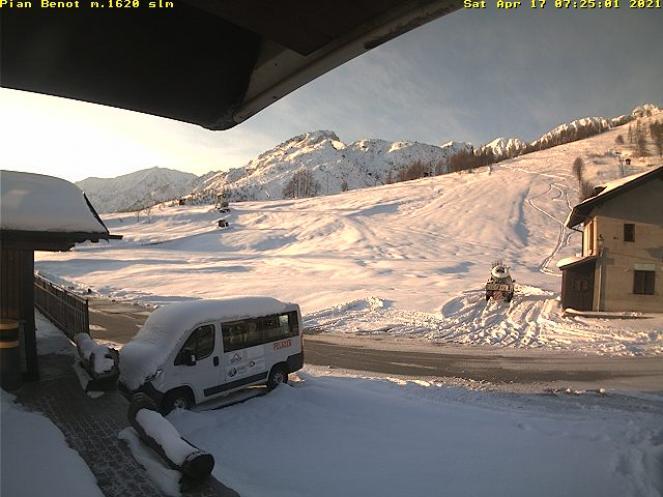 La neve caduta venerdì a Pian Benot (Usseglio - TO)