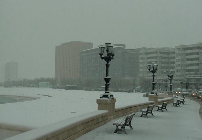 La neve di Bari nell'aprile 2003