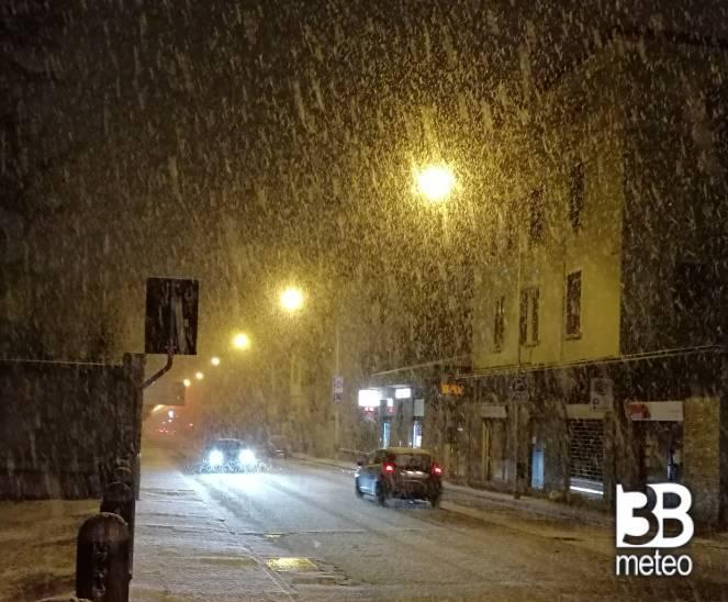La neve di Sondrio