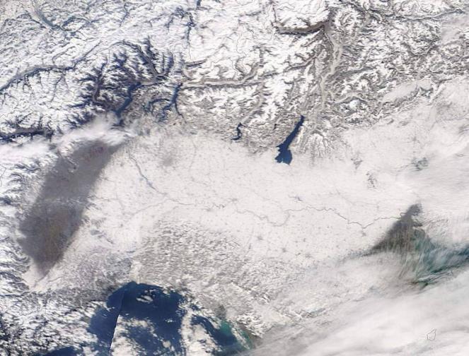 La neve in Valpadana del 3 marzo 2005