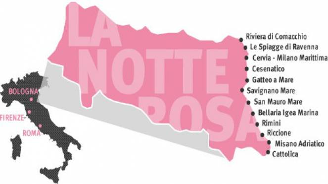 La Notte Rosa: location