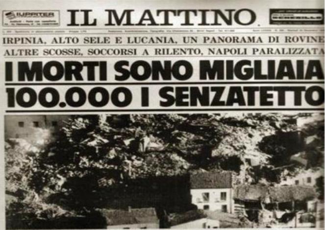La prima pagina del Mattino di Napoli