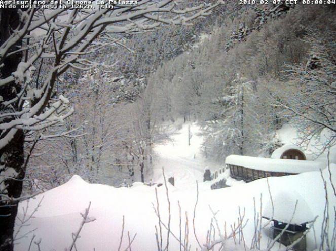 La situazione a Canevare, zona Cimone