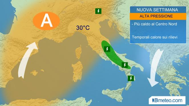 Meteo, previsto caldo d'estate con Hannibal, ma è ancora rischio temporali