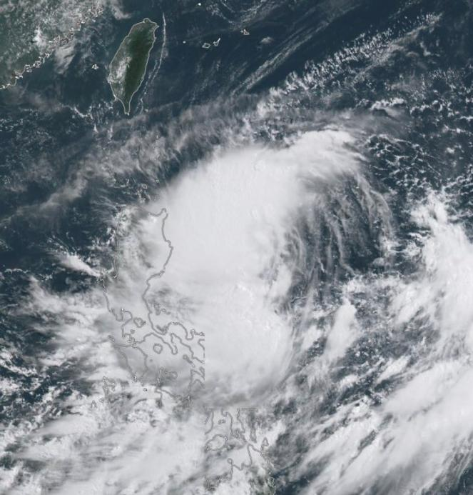 La tempesta Danas vista dal satellite