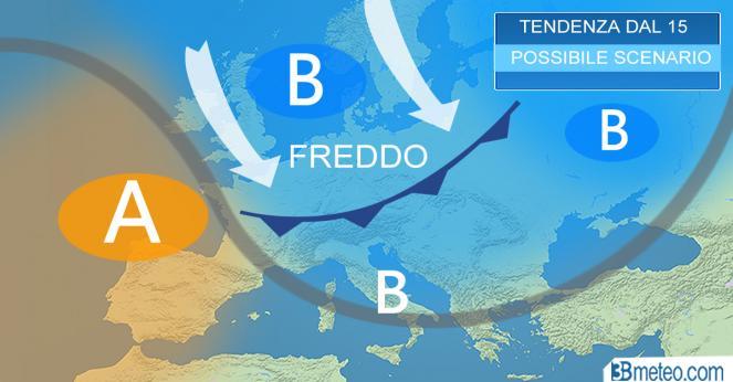La tendenza meteo da metà gennaio