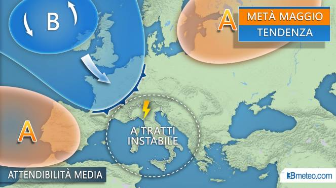 Previsioni Meteo 11-13/05. Weekend di sole e temporali