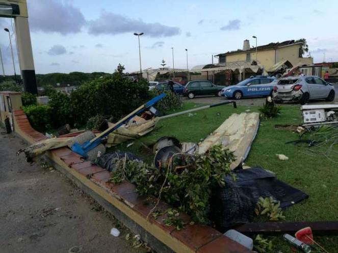 La zona in cui è avvenuto l'incidente mortale a Fiumicino (Fonte immagine: ANSA)