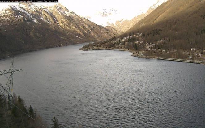 Lago di Ceresole (TO) senza ghiaccio e senza neve