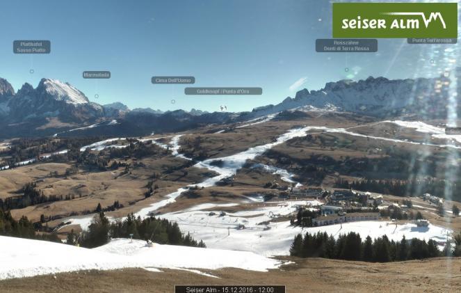 Località alpine in attesa della neve fresca