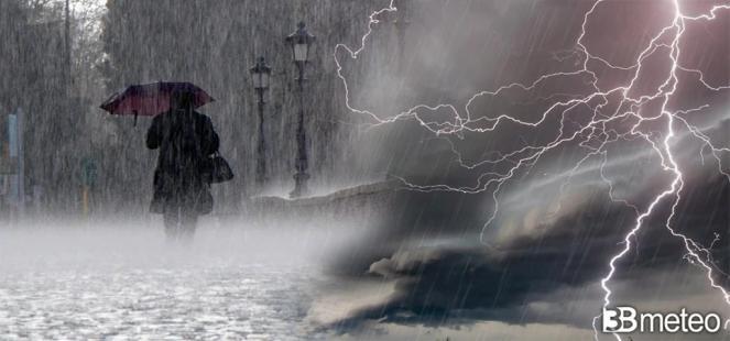 ⚠ LIVE - FORTE PERTURBAZIONE in transito sull Italia, torna il MALTEMPO al Centro-Nord