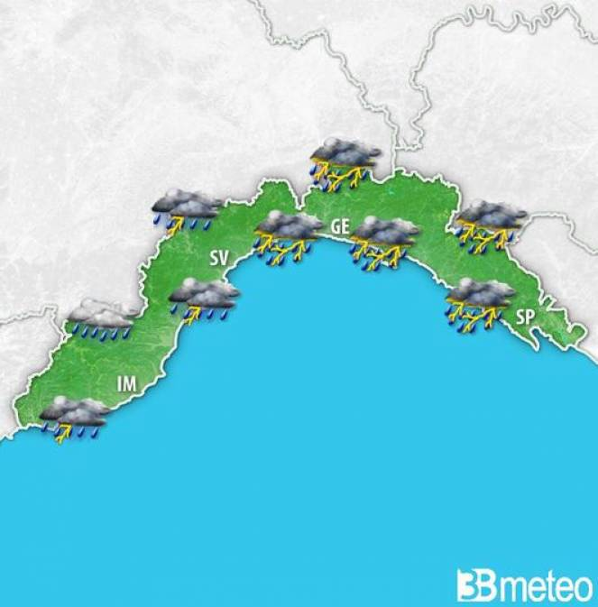 Maltempo diffuso soprattutto domenica, con piogge e temporali anche intensi