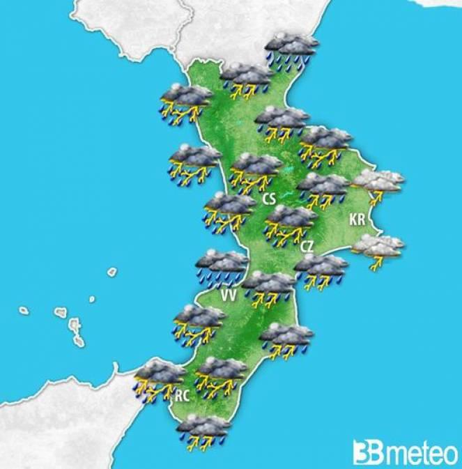 maltempo domenica in Calabria