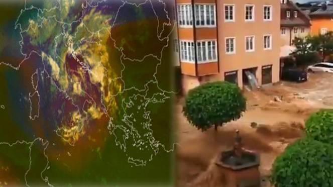 maltempo Europa, alluvione in Austria