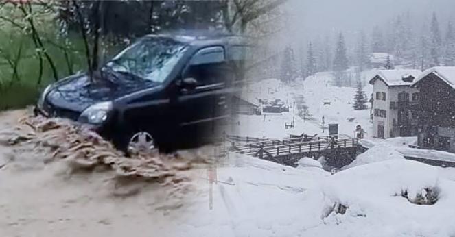 Maltempo imminente con piogge e neve sulle Alpi