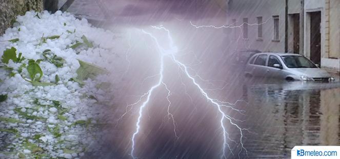CRONACA meteo DIRETTA - Forti temporali e nubifragi, alluvione nel vicentino