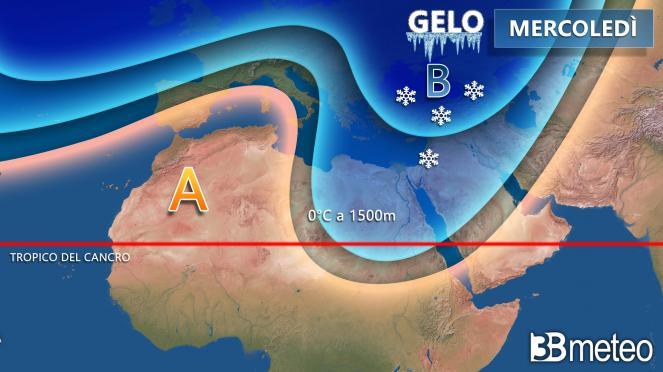 Mercoledì il freddo russo penetra nel cuore dell'Africa nord orientale