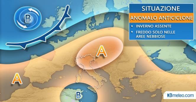 Meteo. Dominio dell'alta pressione sull'Europa centro-meridionale
