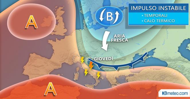 Meteo. Fronte freddo dal Nord Europa verso l'Italia
