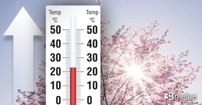 Meteo. Temperature in aumento e tempo più stabile per il weekend del 25 aprile