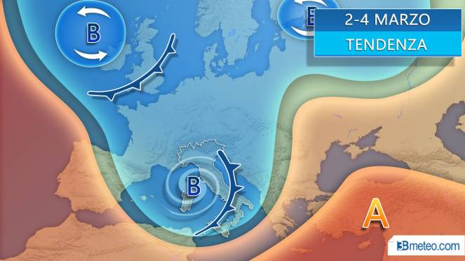 Meteo 2-4 marzo possibile maltempo sull'Italia