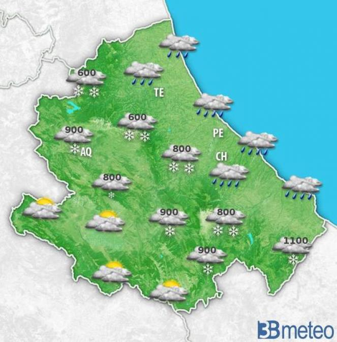 Meteo Abruzzo martedì mattina