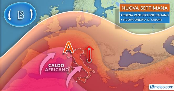 Meteo: anticiclone africano in rimonta sull'Europa nella nuova settimana