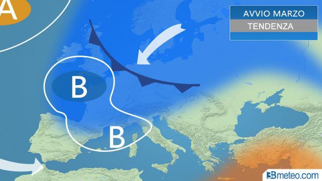 meteo, avvio di Marzo ancora freddo in Europa
