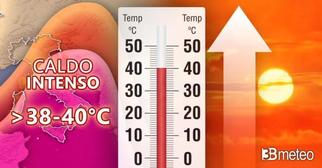 Meteo - Caldo intenso in arrivo, punte anche superiori ai 40°C