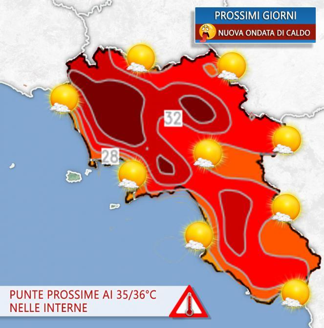 Meteo Campania, ondata di caldo nei prossimi giorni.