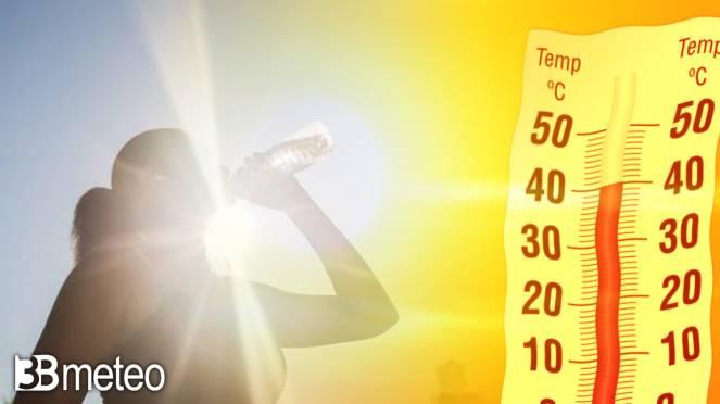 Meteo, da martedì temperature in forte rialzo, attese punte anche over 40°C