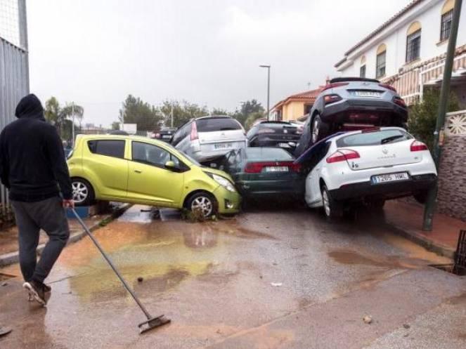 Meteo devastante alluvione colpisce la zona collinare di Malaga