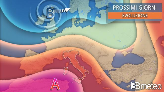 Meteo - Evoluzione media prossimi giorni sull'Europa