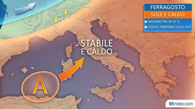 Meteo Ferragosto: la tendenza sull'Italia