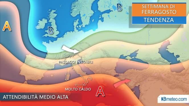 Meteo Ferragosto tra alta pressione e passaggi instabili